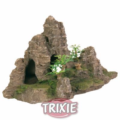 Trixie Скала с пещерой и растениями - декорация для аквариума, 8853