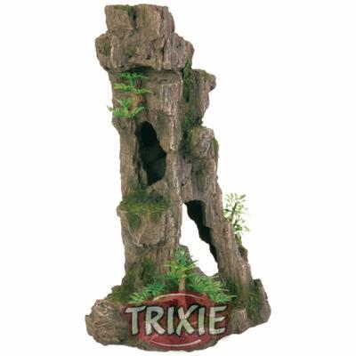 Trixie Скала с пещерой и растениями - декорация для аквариума, 8857