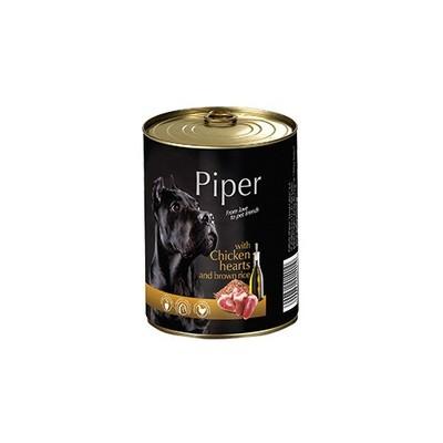 Dolina Noteci Piper консерва для собак с куриными сердцами и коричневым рисом 800 г