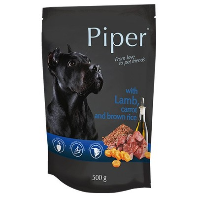 Dolina Noteci Piper - пауч для собак с ягненком, морковкой и коричневым рисом, 500 г