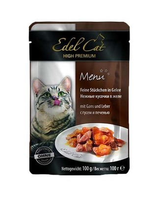 Edel Cat pouch - гусь и печень в желе, 100 гр, 1002025
