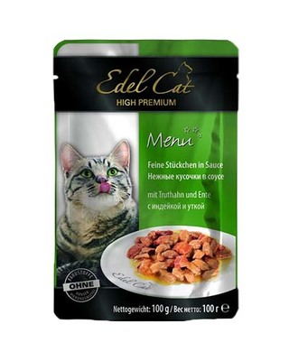 Edel Cat pouch - индейка и утка в соусе, 100 гр, 1002023/179963