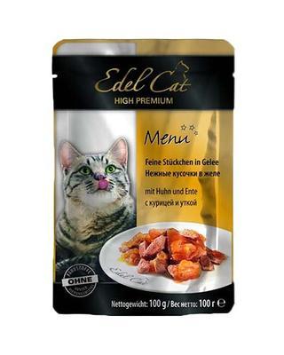 Edel Cat pouch - курица и утка в желе, 100 гр, 1002027