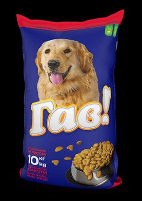 ГАВ сухой корм для собак с телятиной и рисом 1 кг (развес)