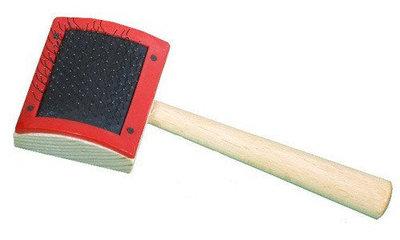 Геко пуходерка деревянная маленькая 43х36 мм