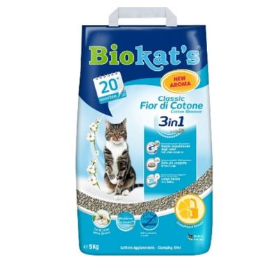 Gimborn Biokats Fior de Cotton - наполнитель для туалетов бетонитовый, с ароматизатором, 5 л