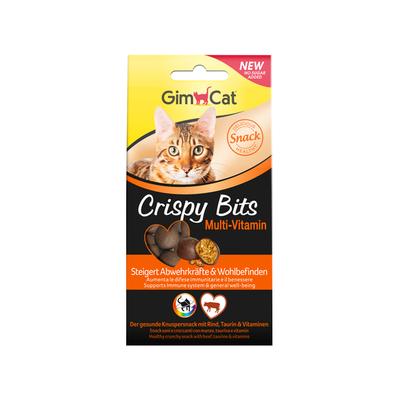 GimCat Crispy Bits Multi-Vitamin - мясное лакомство для кошек, 40 гр