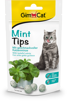 GimCat Mintips 40 г лакомство для котов в кошачьей мятой