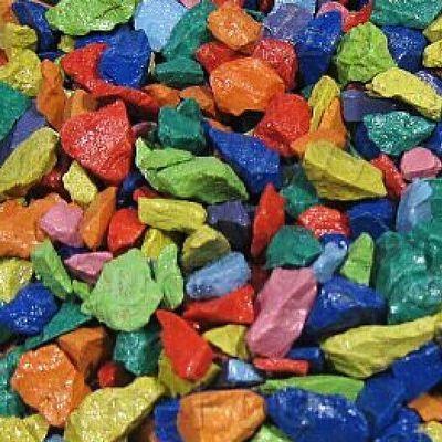Грунт аквариумный цветной Zeta микс 5-10 мм 1кг