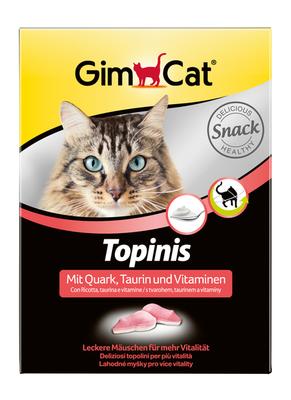 GimCat Topinis - витамины для улучшения обмена веществ, микрофлоры кишечника, 180 таб