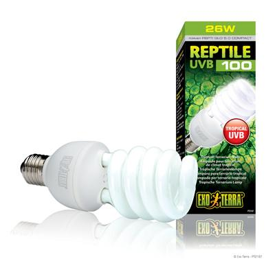 Hagen ExoTerra Reptile UVB100/Repti Glo 5.0, 26(25) Вт, PT-2187 - ультрафиолетовая лампа