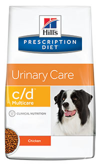 Hill's PD Canine C/D Multicare Urinary Care корм для собак, профилактика образования струвитов 12 кг