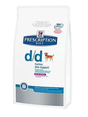 Hill's PD Canine D/D - корм для собак при аллергии, дерматологии, утка и рис 2 кг