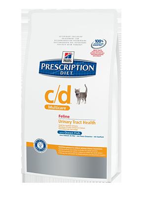 Hill's PD Feline c/d океаническая рыба - профилактика струвитов, оксалатов, лечение циститов 5 кг