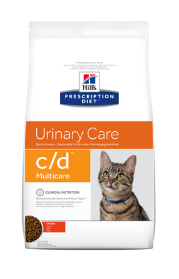 Hill's PD Feline C/D Urinary Care профилактика струвитов, оксалотов, лечение циститов, курица 1,5 кг