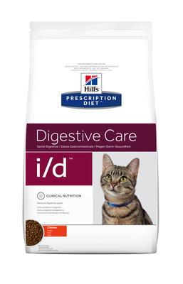 Hill's PD Feline I/D Digestive Care корм для котов при заболеваниях ЖКТ, панкреатите 1,5 кг