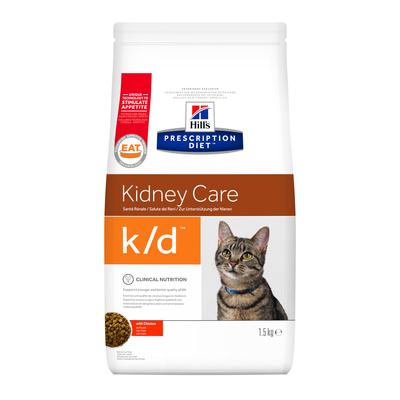 Hill's PD Feline K/D Kidney Care корм для кошек с заболеваниями почек, сердечной недостаточностью 0,4 кг