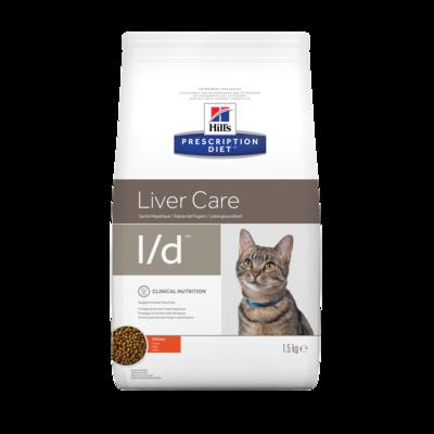 Hill's PD Feline L/D Liver Care корм для котов при заболеваниях печени 1,5 кг