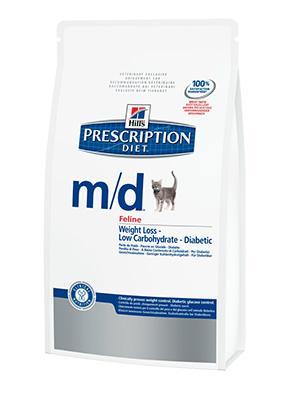Hill's PD Feline m/d - лечение сахарнго диабета, ожирения 1,5 кг