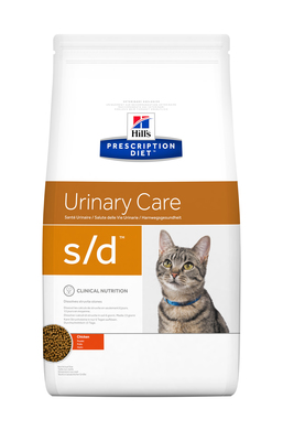 Hill's PD Feline S/D Urinary Care корм для котов страдающих струвитами 1,5 кг