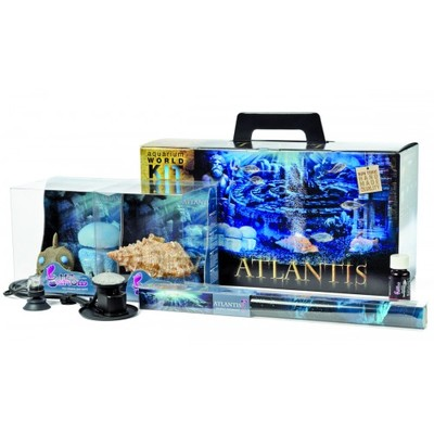 Hydor H2ShOw Kit Box Atlantis набор фон 80х40, аэратор, декорации, подсветка