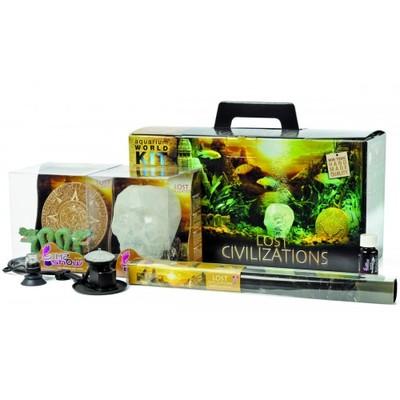 Hydor H2ShOw Kit Box Lost Civilization набор фон 80х40, аэратор, декорации, подсветка