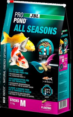 Корм для средних прудовых рыб JBL Pond All Seasons M всесезонный 6 л (1,1 кг)