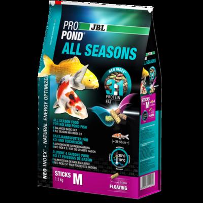 JBL Pond All Seasons M - всесезонный корм для средних прудовых рыб 32 л (5,8 кг), 58002