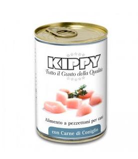 Kippy Dog с кусочками мяса, кролик - консерва для собак, 400 гр