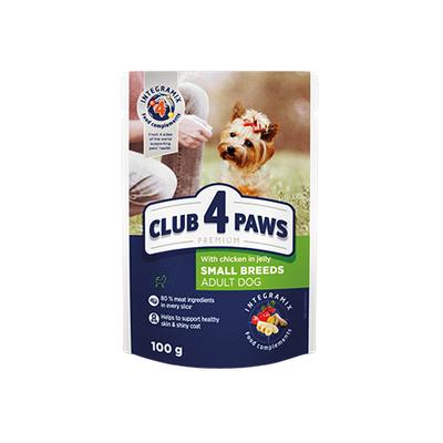 Клуб 4 лапы Premium пауч для собак курица в желе, 100 г