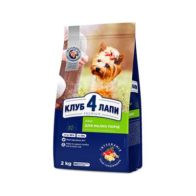 Клуб 4 лапы Premium сухой корм для собак малых пород, 2 кг