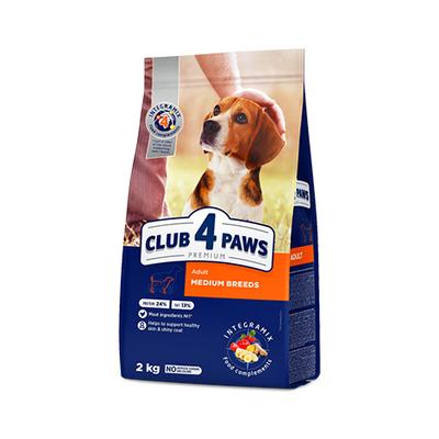 Клуб 4 лапы Premium сухой корм для собак средних пород, 2 кг