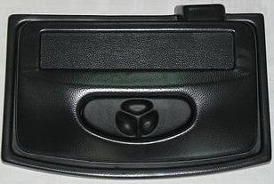 Крышка на аквариум Aquarica Овальная 50*30 черная, экономка, 1 лампа