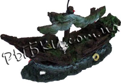 Декорация для аквариума Корабль Minjiang