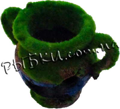 Декорация для аквариума Minjiang Кувшин в зелени