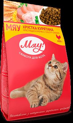 МЯУ сухой корм для котов с курицей 100 г