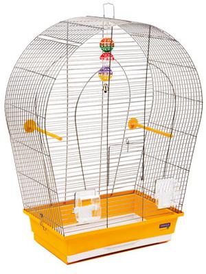 Природа Арка Большая для мелких и средних декоративных птиц, краска хром, 44х27х75 см