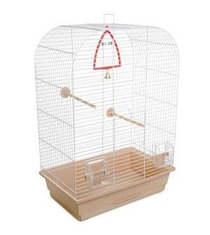 Природа Аурика клетка для птиц, цвет прутьев белый, 44х27х64 см