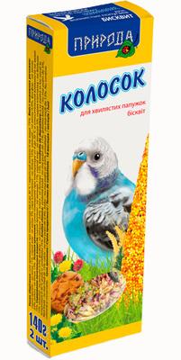 Природа Бисквит - колосок для попугаев, 140г