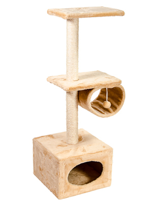 Природа Д22 с барабаном - дряпка для котов, бежевая