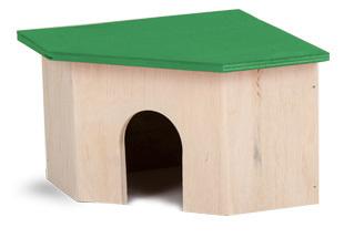 Природа дом для грызунов угловой малый, 16х24,5х10,5 см