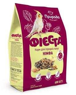Природа Фиеста Нимфа корм для средних попугаев 600 г