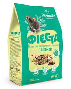 Природа Фиеста Пацючок корм для декоративных крыс, 600 г