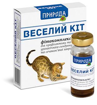 Природа Фитокомплекс Веселий Кіт - профилактика мочекаменной болезни 3х10 мл