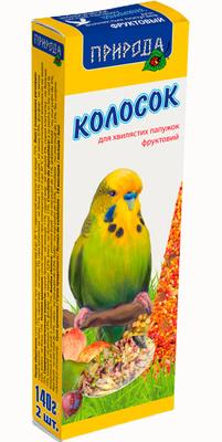 Природа Фруктовый колосок для попугаев, 140г