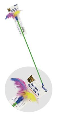 Природа игрушка для кота Палочка с перьями