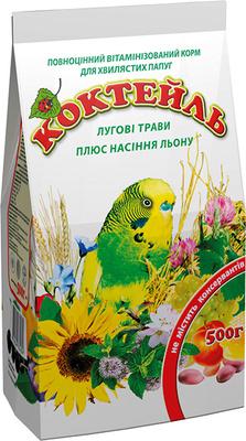 Природа Коктейль для попугая Луговые травы и лен, 0,5 кг