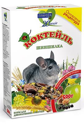 Природа Коктейль корм для грызунов Шиншиллка, 500 г