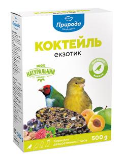 Природа Коктейль Экзотик корм для экзотических птиц, 500 г