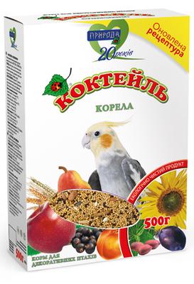 Природа Коктейль Корелла - корм для средних попугаев, 500 г